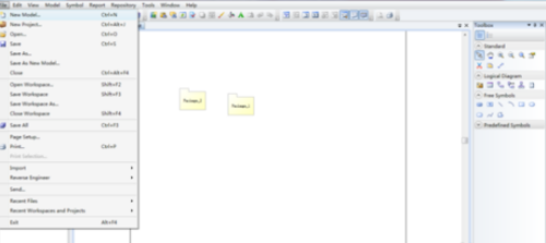 Power Designer怎么制作業務溝通圖