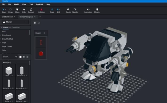 乐高积木搭建moc工具studio2.0
