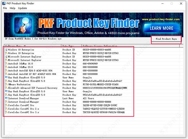 PKF Product Key Finder破解版